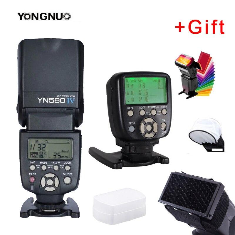 Yongnuo YN560IV YN560 IV YN 560 Flash Speedlite With YongNuo YN560-TX II Trigger Controller for Canon Nikon Fuji Camera